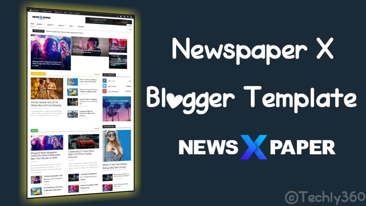 Blogger Newspaper X Premium Template Download
