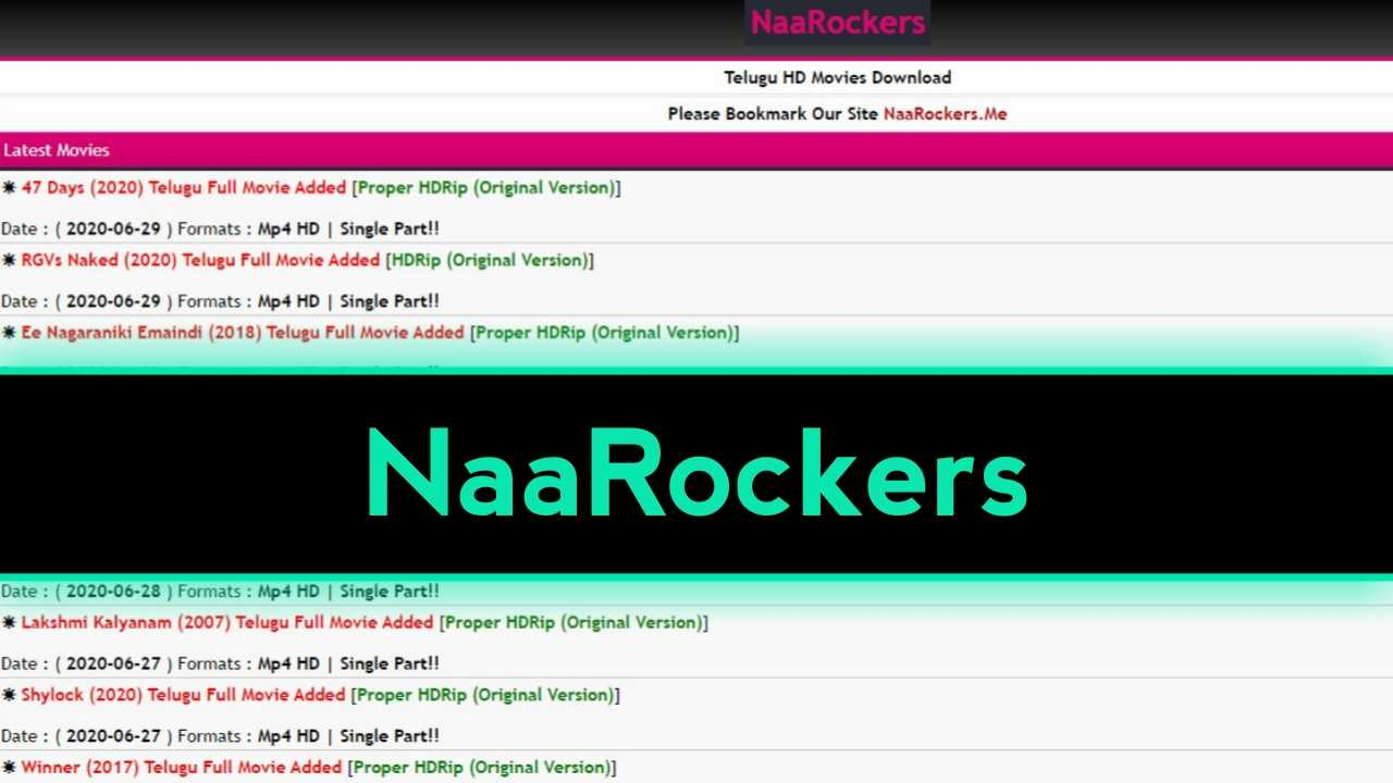 NaaRockers 2021: Telugu Movies Download New Telugu HD Movies Free Download