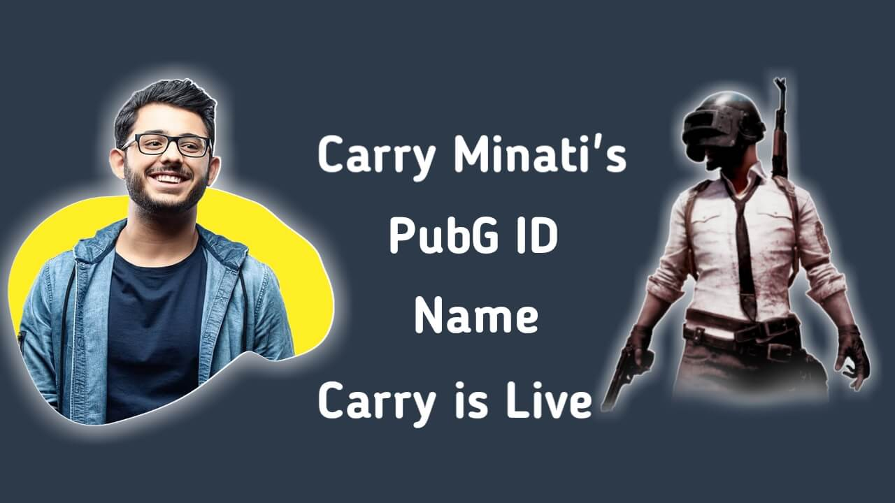 CarryMinati PUBG ID Name, Carry Minati PubG ID, Carry is Live, Khalidjamonday