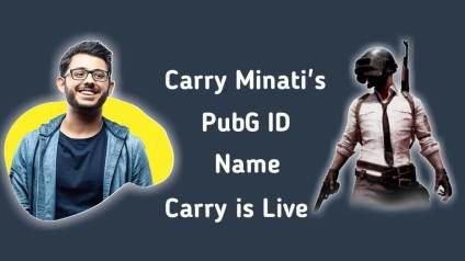 CarryMinati PUBG ID Name, Carry Minati PubG ID, Carry is Live, Khalidjamonday
