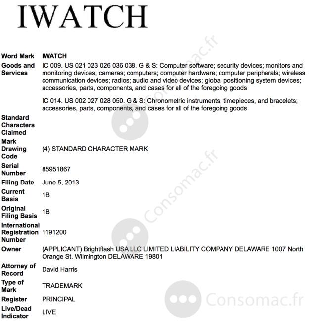 iwatch-uspto-usa-trademark-application-1