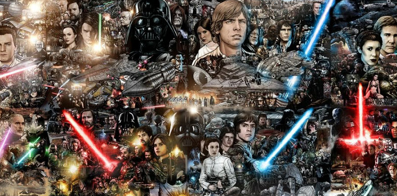 The Force Is Strong With This Mural! http://techmash.co.uk/2018/02/15/characters-star-wars-mural/
