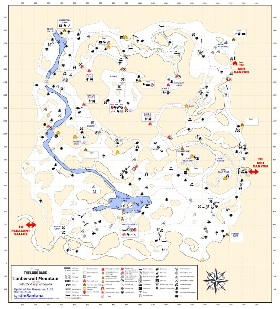 TimberWolf Mountain region map