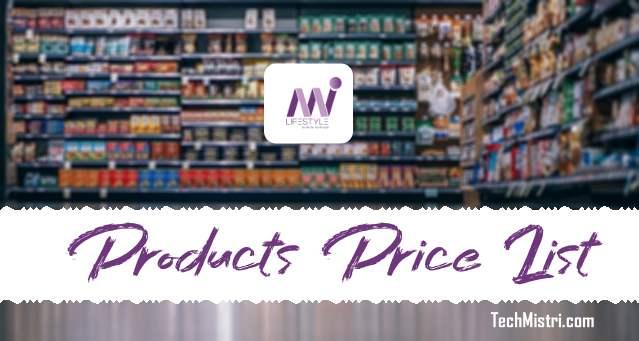 Mi Lifestyle Products Price List