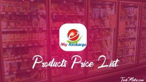 My Recharge Products Price List