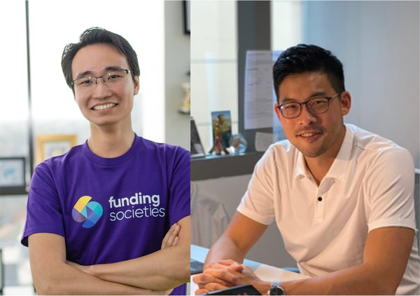 Left to right: Kelvin Teo, Co-founder and Group CEO, Funding Societies   Modalku; David Z. Wang, Co-founder and CEO, Helicap Pte. Ltd.