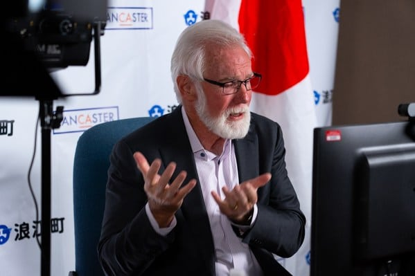 Lancaster, CA, Mayor R. Rex Parris, talks about the importance of municipal commitments to hydrogen-based economies at Japan's 2021 Hydrogen Energy Ministerial.