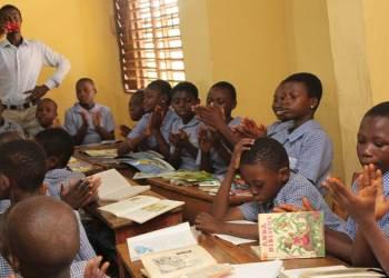 pupils at Ojota Primary School in Lagos, Nigeria