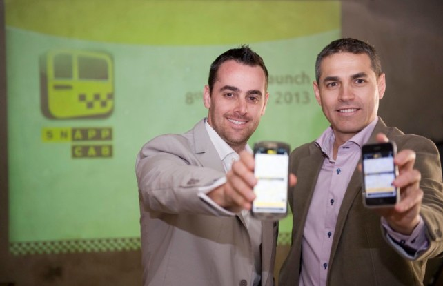 Nathan Sasto and Anton van Metzinger, founders of SnappCab