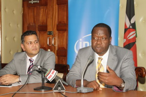 Suraj Shah Corporate Affairs Manager Intel East Africa Cabinet Secretary Ministry of ICT Dr Fred Matiangi 2.JPG