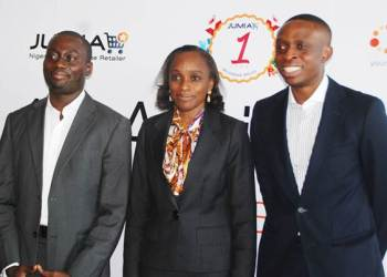 Jumia co-founders nigeria and in the middle Ms Omotola Johnson