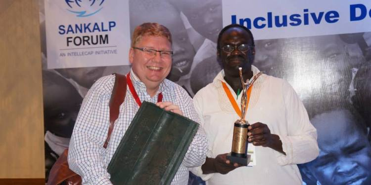 GrowthAfrica founder Johnnie(left) and Dr. Aghan of Continental Energy