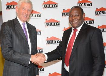 Dr James Mwangi with  The McKinsey & Company Global Managing Director Mr. Dominic Barton