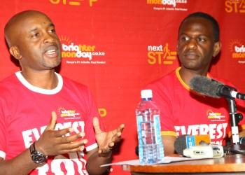 Robert Kimani BrighterMonday GM with Steve Obayi the first kenyan to climb mount (3)