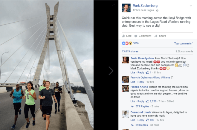 Mark Zuckerberg Run