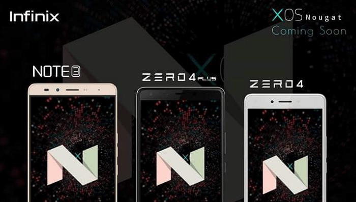 The Infinix Note 3, Zero 4 and Zero 4 Plus will be getting