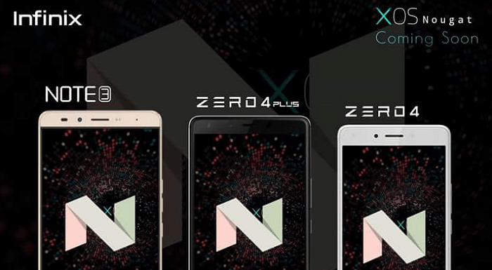 The Infinix Note 3, Zero 4 and Zero 4 Plus will be getting Android 7.0 update any moment now.