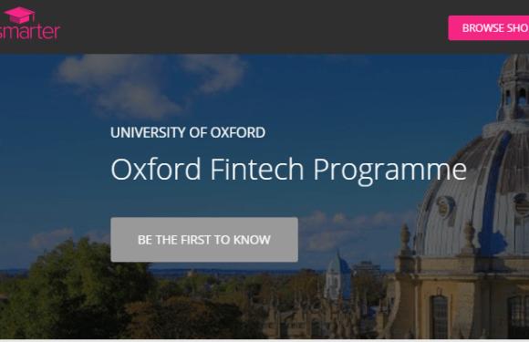 Oxford University and Get Smarter Launch FinTech Programme