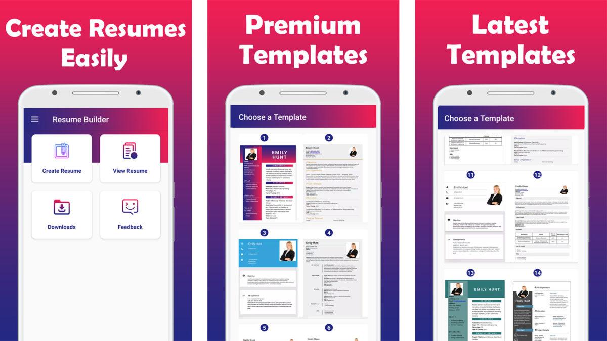 7 Best Free Resume Builder Apps On Android Phones Techmoran