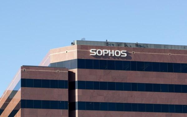 Santa Clara, CA, USA - Feb 26, 2020: British cybersecurity software and hardware company Sophos Group plc's Silicon Valley office in Santa Clara, California.