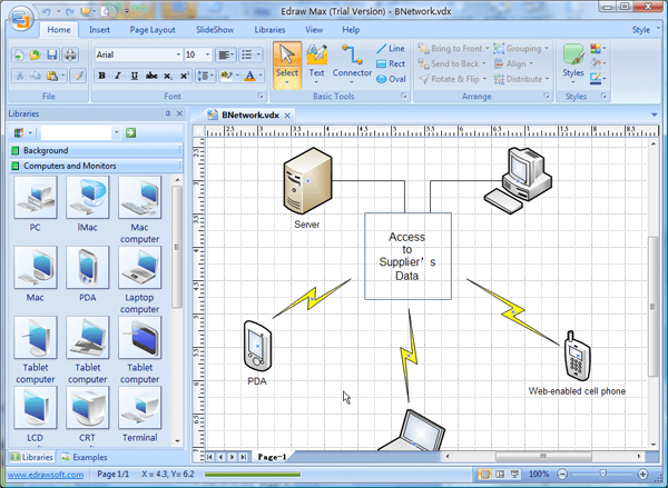 Visio Network Diagram Templates With Examples