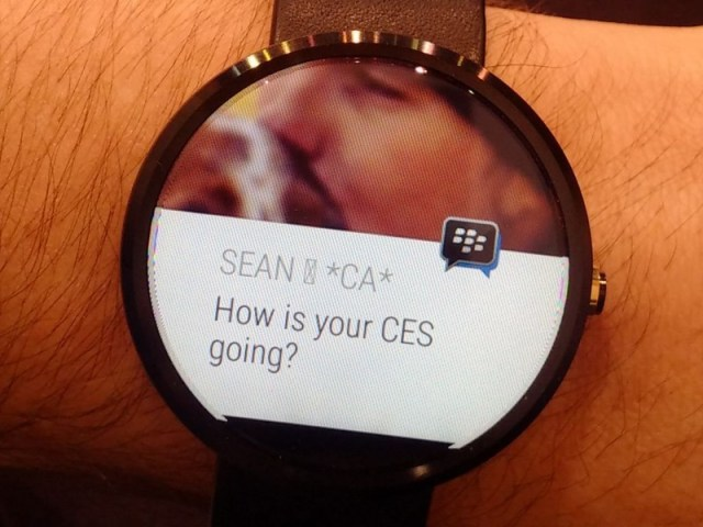 BBM for Android Wear