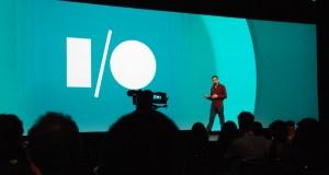 Sundar Pichai, on stage at Google's 2014 Google I/O Conference