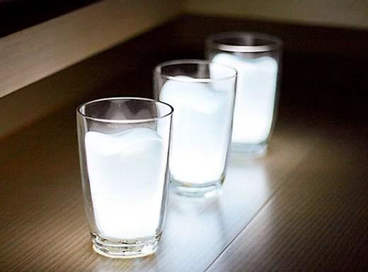 LED Milk Glasses Half Empty or Half Full