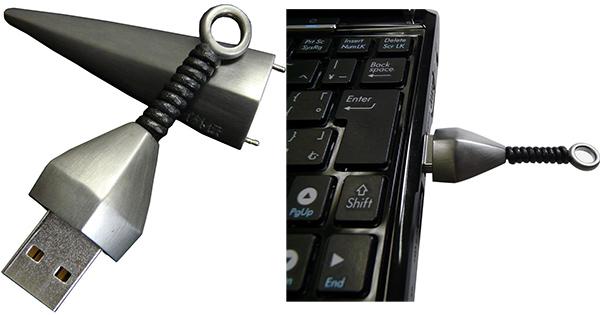 Kunai USB Drive Because Ninjas Need to Save Data Too  Technabob