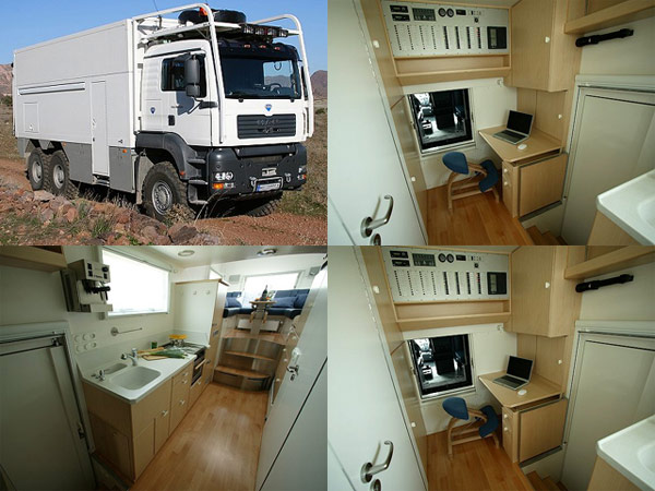 Garbage truck becomes a home