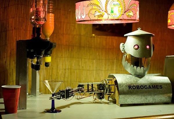 robot bartender drinks bar