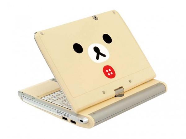 teddy bear cute netbook tablet pc laptop kids rilakkuma