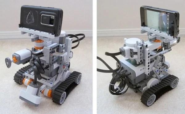 lego robot mindstorms remote control tweets twitter