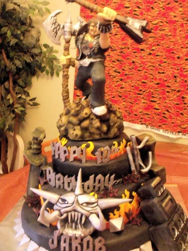 Brutal Legend Birthday Cake Would Make Jack Black Proud