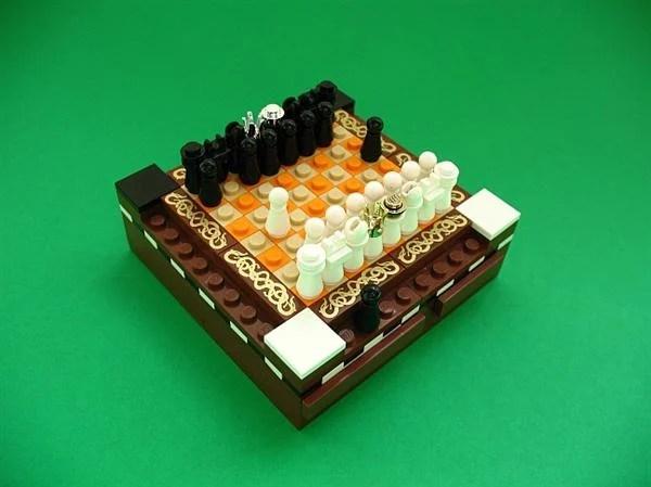 lego chess set mini figurines