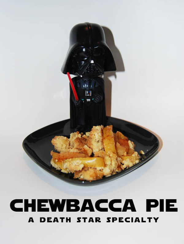 darth vader chewbacca pie star wars death star