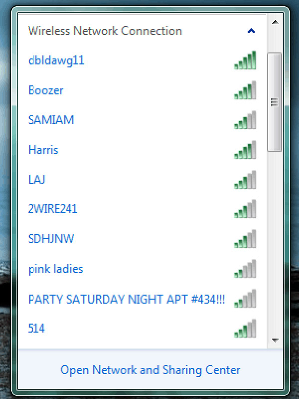 wifi party invites network