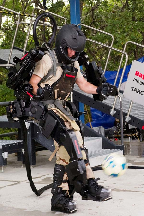 raytheon xos exoskeleton defense science-fiction iron man