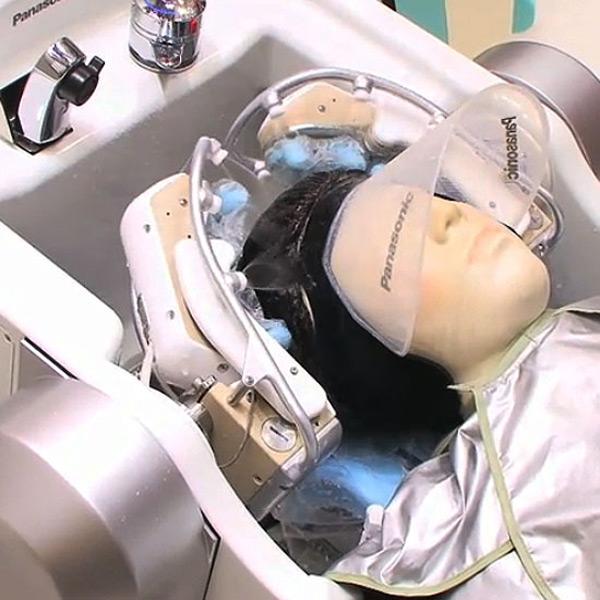 hair washing salon robot japan panasonic