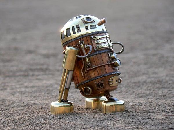 star wars r2d2 steampunk astromech droid