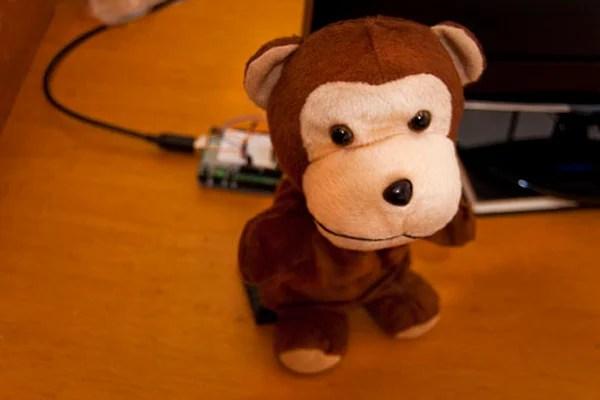 twitter monkey arduino hack mod computer tweets