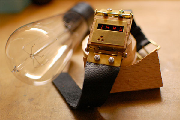steampunk led wristwatch watch timepiece diy
