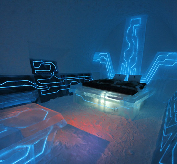 tron legacy ice hotel suite sweden