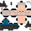 Make your own steve jobs papercraft christmas tree ornament
