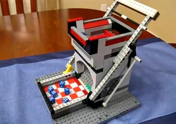 lego cast tower diy dice