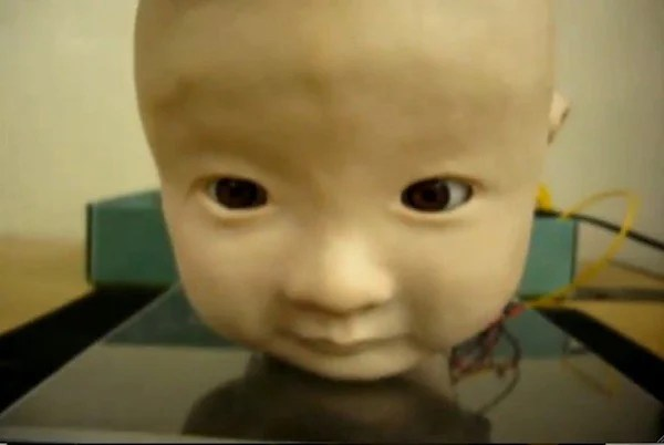 japan osaka robot scary head expressions emotions baby