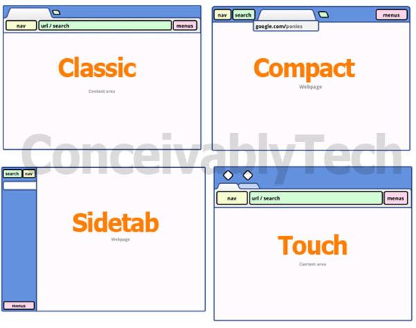 google chrome no url bar redesign compact