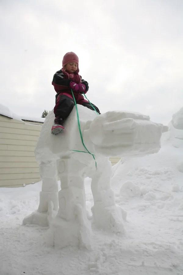 at at imperial walker snow sculpture fun mexican viking