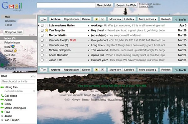 gmail custom background email google theme
