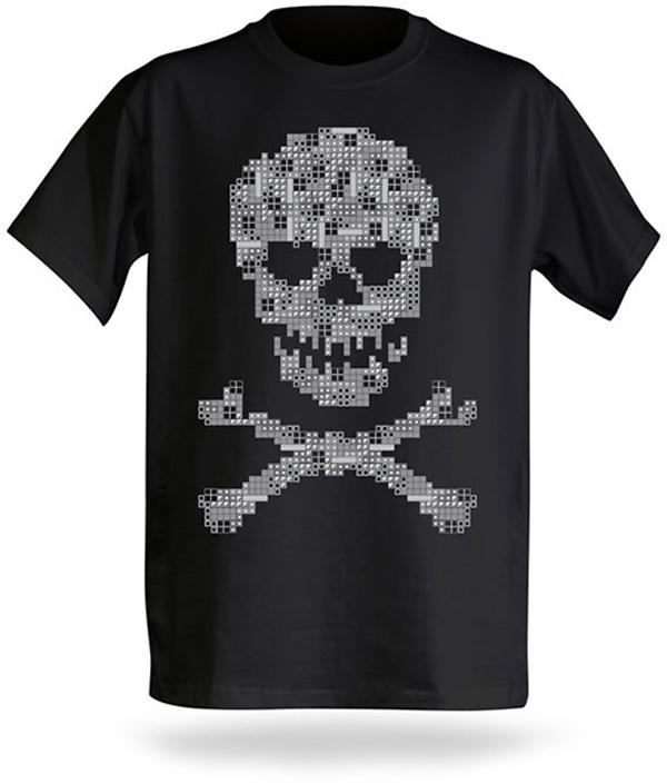 tetris skull bones t-shirt thinkgeek nintendo